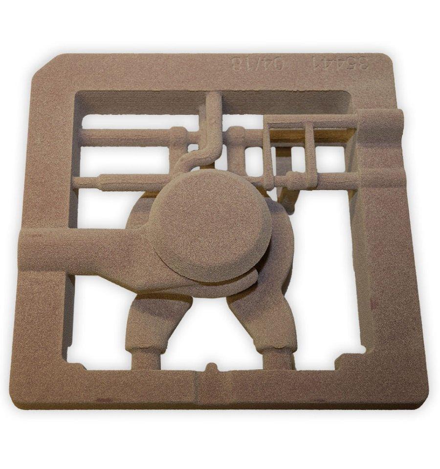 Anima per prototipale in sabbia da stampa 3D - Distributore oleodinamico