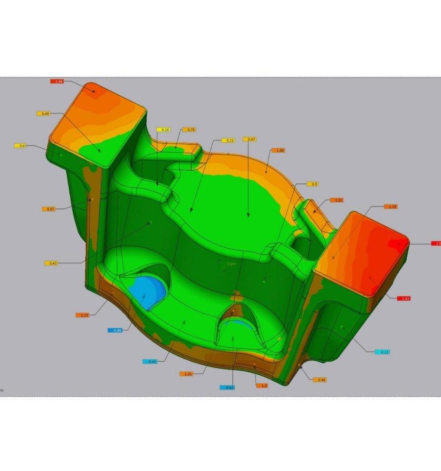 Controllo dimensionale 3D Fusione industriale