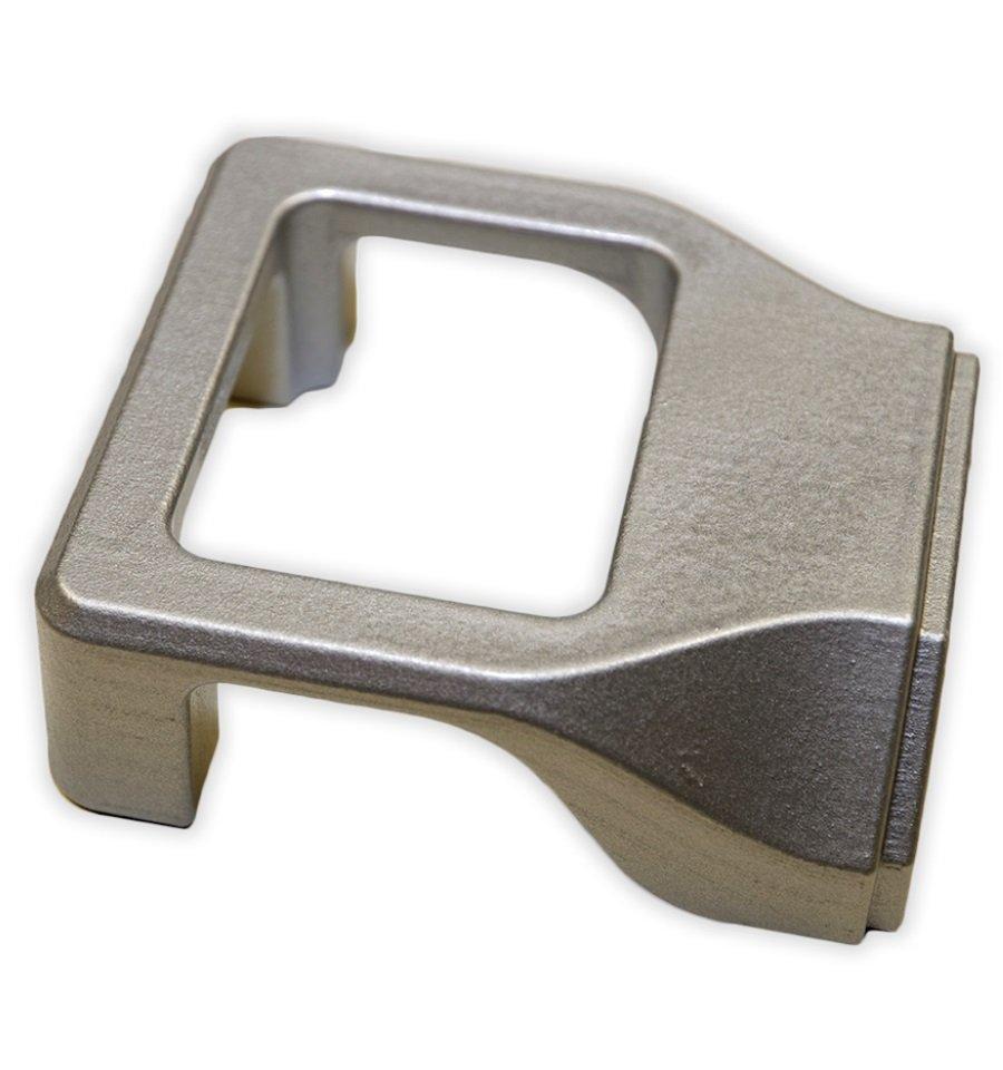 Prototipo da stampa 3D SLS con verniciatura argento metallizzato